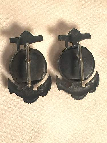 WWI or WWII USMC Marines ? device pin ANCHOR GLOBE Unique.