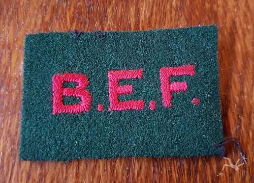 Unknown B.E.F. badge