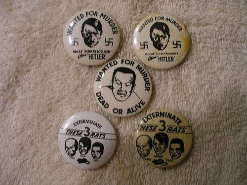 US anti axis pinback collection for your viewing