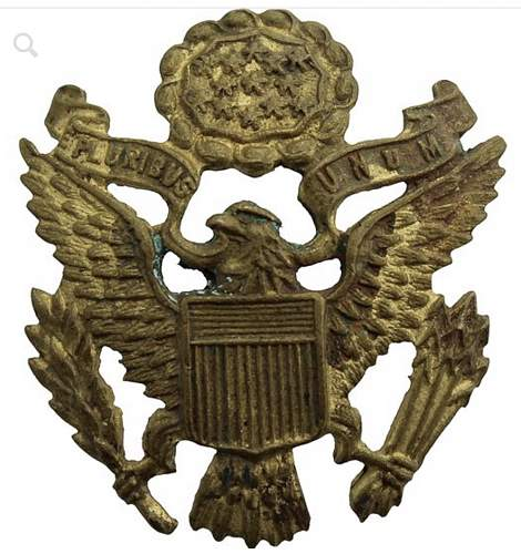 WW2 U.S. infantry cap badge and U.S. air corps collar badge authenticity check