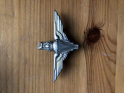 WW2 British parachutist badge authentic??