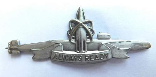 Royal Navy SSBM Continuous At Sea Deployment (CASD) patrol pin