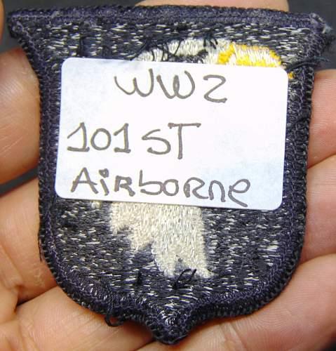 101 st Airborne Patch - Original or Fake?