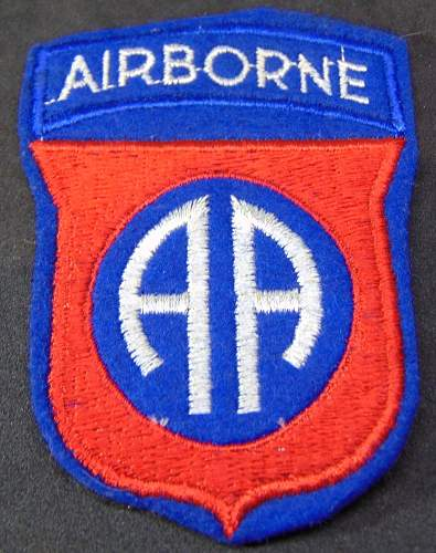 82 nd Airborne Patch - Original or Fake?