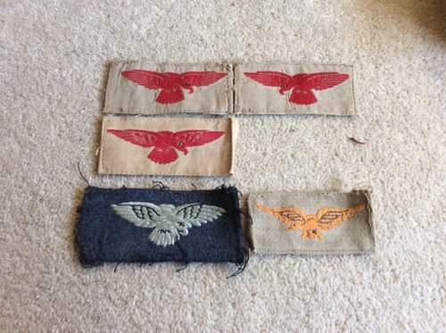 Raf shoulder badges