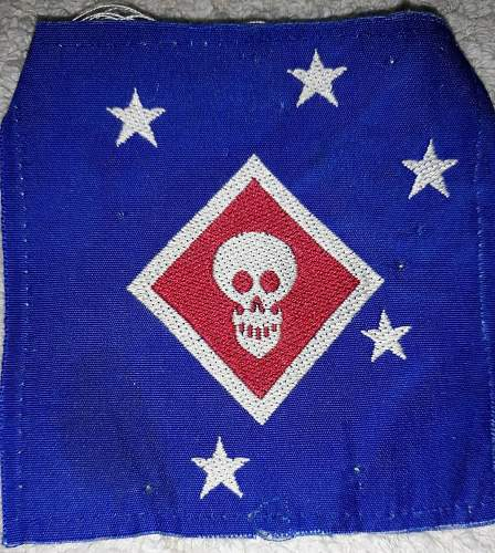 WWII Australian Made Raider & 1st Marine Division Patch