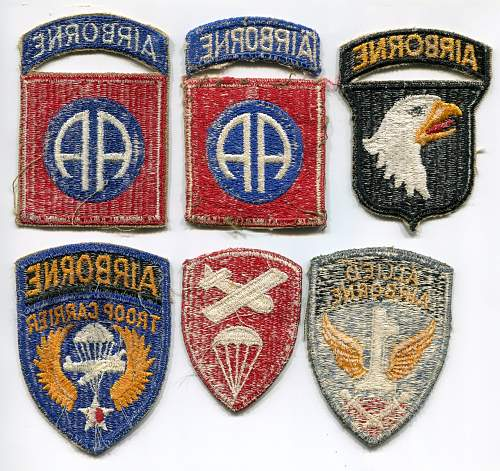 US Airborne Patches