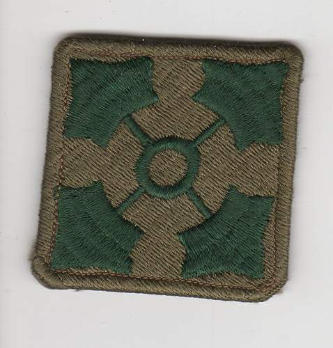 US 4th Infantry Division patch with excess material flaps