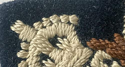 I would value your opinions on my new RAF Wing cloth Insignia