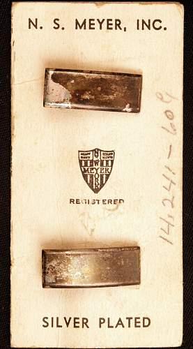N.S.Meyer Lt. Bars / Wartime Sales Card
