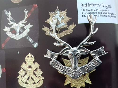 Seaforth Highlanders cap badge - how can I tell a British badge from a Canadian one?