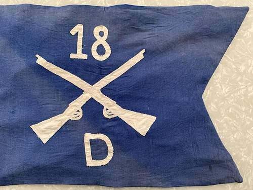US 18th Infantry Regiment Company D Guidon help please