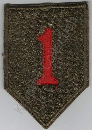 US 1st Inf Div. Big Red One shoulder sleeve insignia