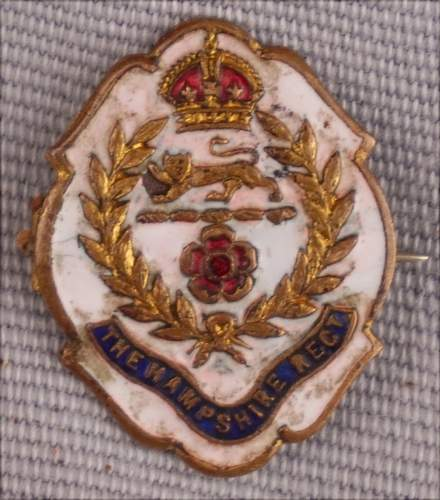 The Hampshire Regt, swearthart or not?