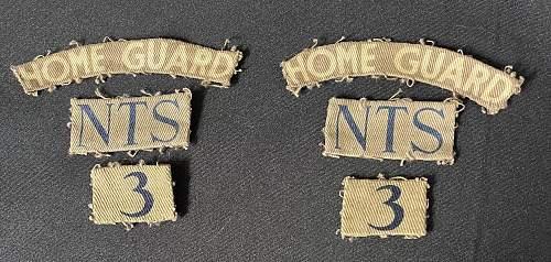 3rd (Beeston) Battalion Nottinghamshire Home Guard Printed insignia