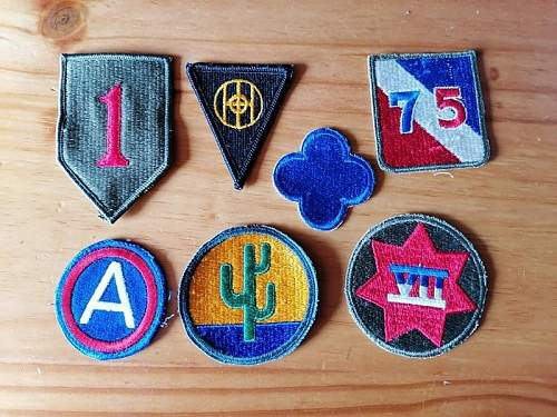 Dating US patches lot