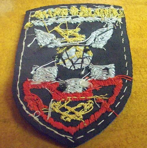 Handmade Chairborne Patch from Korea/World War 2???