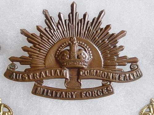 Click image for larger version.  Name:Australian cap badge.jpg Views:2476 Size:155.3 KB ID:167757