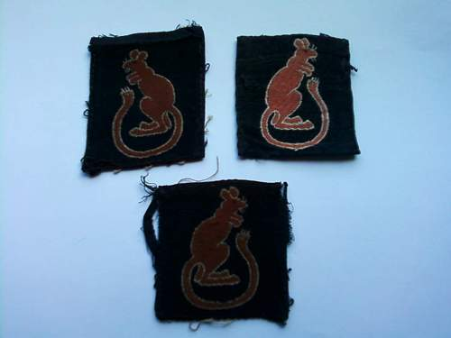 7th Armoured DIV WWII Formation Sign Set