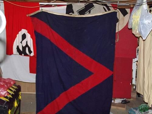 WWII  US Navy flag marked  BRIT.U.S.