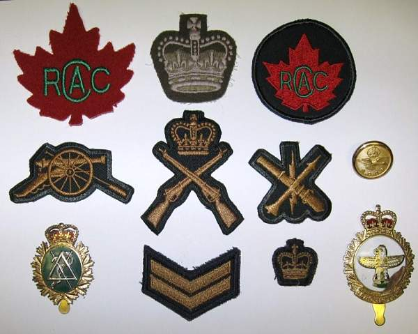 Canadian Army Badges
