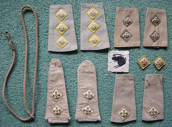 Group of Insignia to a Desert Rat of the 4th Armoured Brigade
