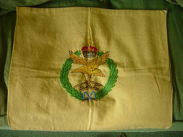 Army Air Corps sweetheart embroidery