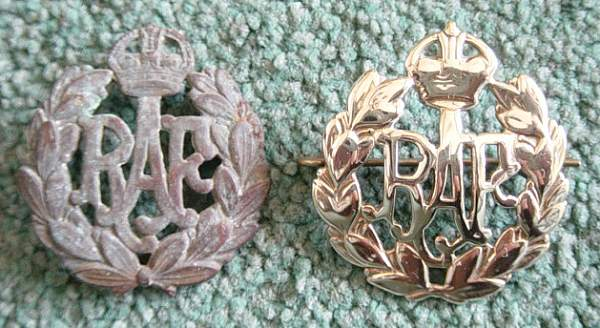 Click image for larger version.  Name:RAF cap badges..jpg Views:356 Size:42.1 KB ID:18953