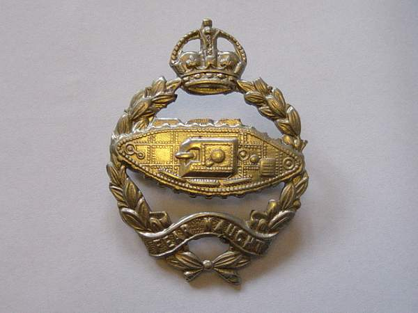 Click image for larger version.  Name:Royal Tank Regiment cap badge..jpg Views:876 Size:152.9 KB ID:19083