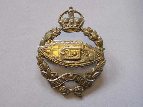 Click image for larger version.  Name:Royal Tank Regiment cap badge..jpg Views:922 Size:152.9 KB ID:19083