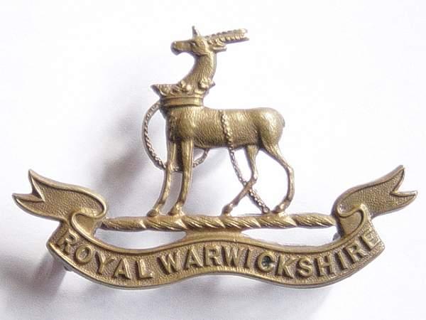 Click image for larger version.  Name:Royal Warwickshire Regt Officers bronze cap badge..jpg Views:850 Size:144.0 KB ID:19111