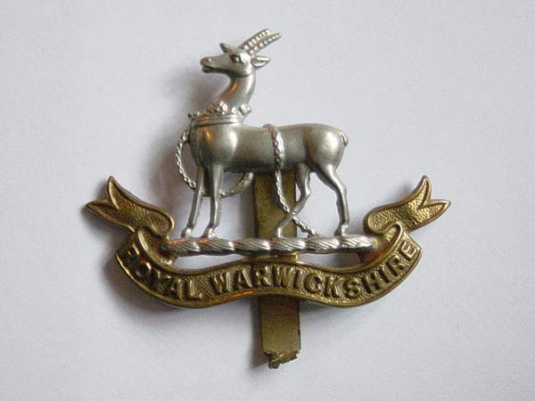 Royal Warwickshire Regt cap badges