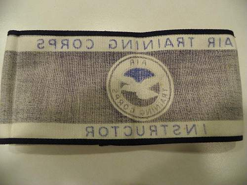 ATC Instructor Armband Just Came in. This is a Civilian Armband based in the UK