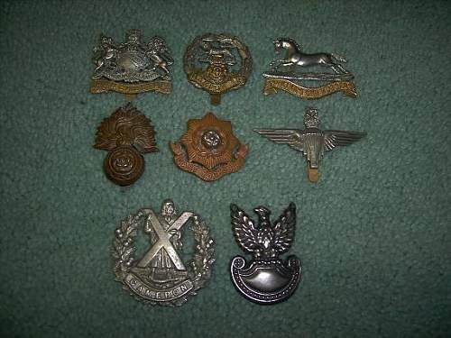 Various British insignia- WWII?