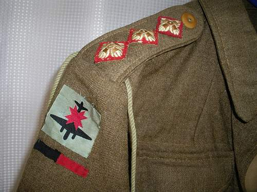 Insignia identification needed for WW2 uniform donated to hospice