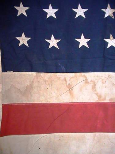 48 star US flag, in need of TLC