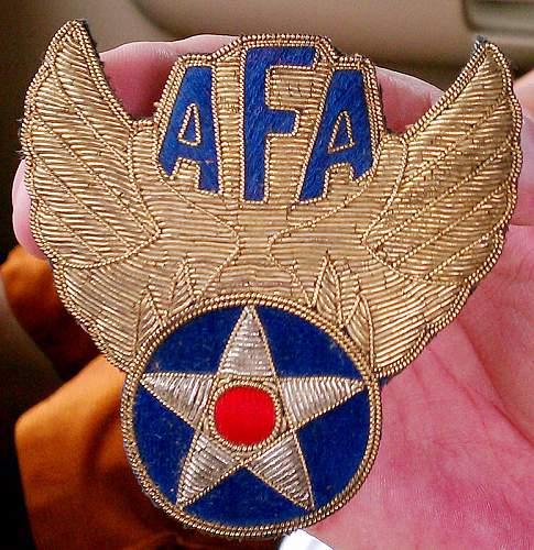 I Need Help ID'ing this AFA Crest...