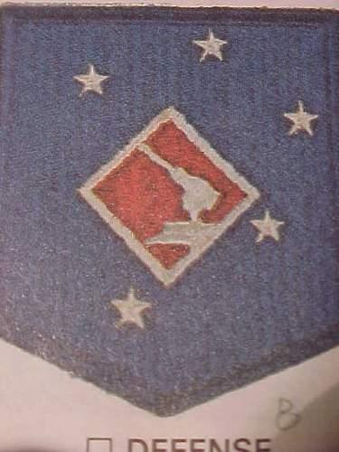 WW2 USMC 4th DEFENSE BATTALION PATCH