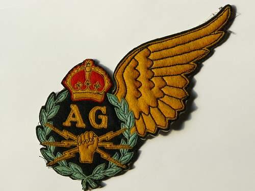 Royal Air Force Air Gunners Badge