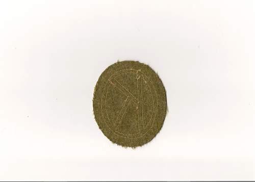 Unidentified patch, U.S.  WW1 or WW2 ?