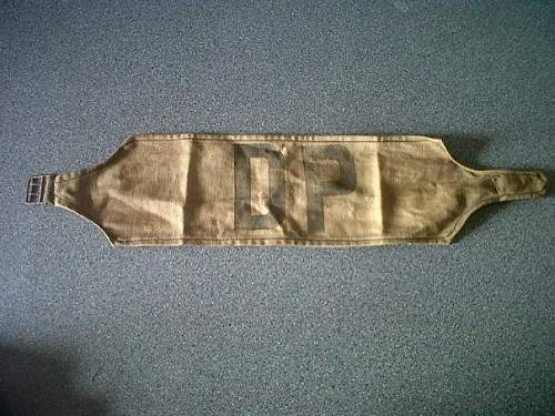 DP armband, real or fake, info please.