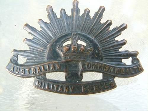 Austalian Commonwealth Military Forces Cap Badge WW-2 ?