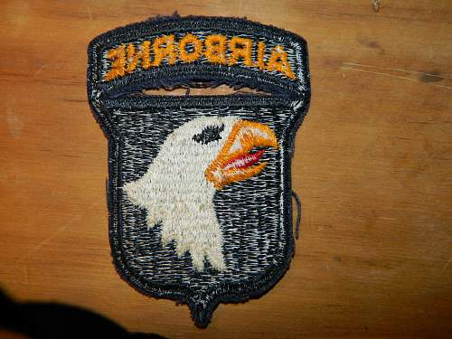 need help with a 101st airborne screaming eagle patch