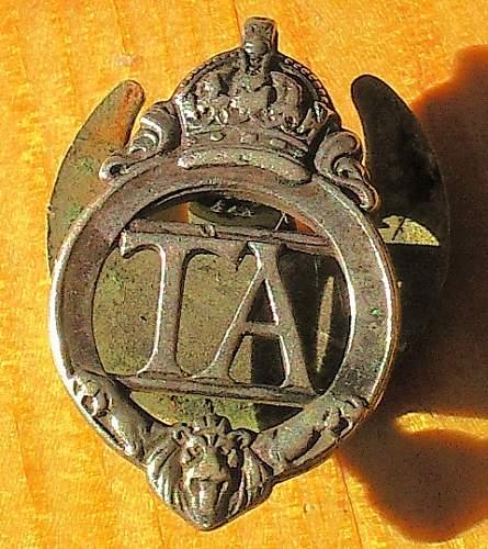 Unknown TA Lapel badge