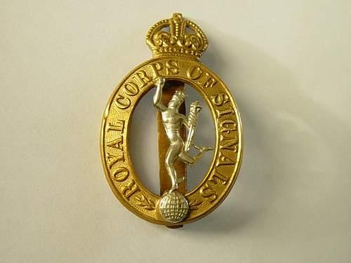 Click image for larger version.  Name:Royal Signals Cap badge.jpg Views:1410 Size:137.6 KB ID:28336