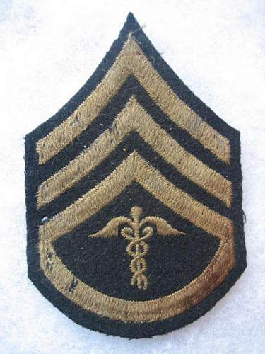 Medical Staff Sgt. rank patch