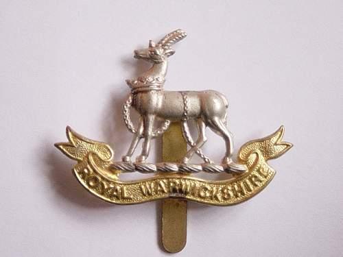 Click image for larger version.  Name:Royal Warwicks cap badge.jpg Views:390 Size:147.3 KB ID:301796