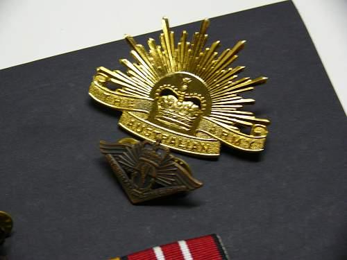 WWI or WWII Australian hat badge