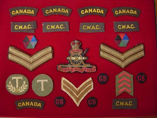 CWAC & RCA insignia: Husband & wife group