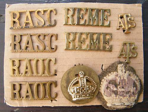 Shoulder titles, REME RASC RAOC ATS & SM Crowns